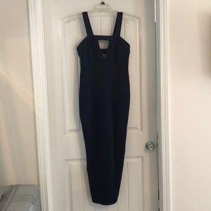 Asos Navy blue mid shin cocktail dress